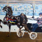 Saddlebred with cart